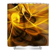 Gold And Shadows Shower Curtain