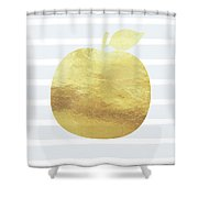 Gold Apple- Art By Linda Woods Shower Curtain
