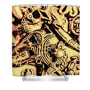 Gold Aquarium Shower Curtain