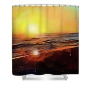 Gold Beach Oregon Sunset Shower Curtain