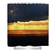 Gold Behind The Clouds Shower Curtain