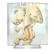 Gold Bejeweled Fertility Goddess Shower Curtain