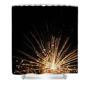 Gold Bloom Shower Curtain