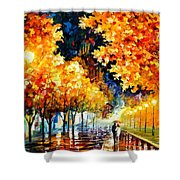 Gold Boulevard Shower Curtain