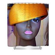 Gold Bowl Brenda Shower Curtain