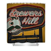 Gold Brewers Hill Shower Curtain