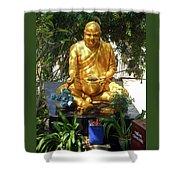 Gold Buddha 4 Shower Curtain