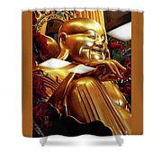 Gold Buddha 5 Shower Curtain