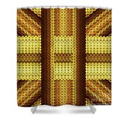 Gold C Shower Curtain
