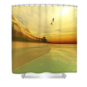 Gold Coast Shower Curtain by Corey Ford