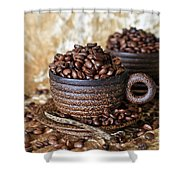 Gold Coffee Shower Curtain by Tracy Hall