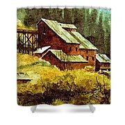 Gold Coin Mine Montana Shower Curtain