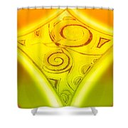 Gold Diamond Shower Curtain