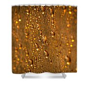 Gold Drops Shower Curtain