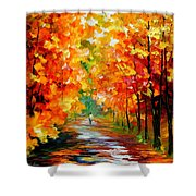 Gold Expanse Shower Curtain
