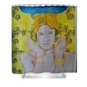 Gold Eyes Shower Curtain