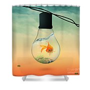 Gold Fish 4 Shower Curtain