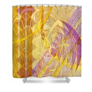 Gold Fusion Shower Curtain