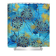 Gold In Bloom Shower Curtain