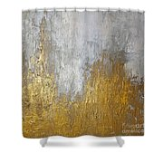 Gold In The Mountain Shower Curtain by KR Moehr