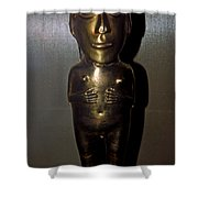 Gold Indian Statue Shower Curtain