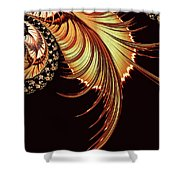 Gold Leaf Abstract Shower Curtain