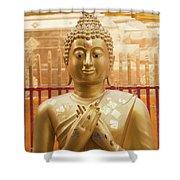 Gold Leaf Buddha Shower Curtain