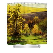 Gold Leaf Shower Curtain
