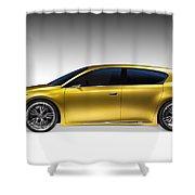 Gold Lexus Lf-ch Hybrid Car Shower Curtain
