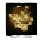 Gold Light And Panels Shower Curtain
