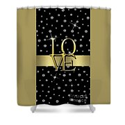 Gold Love  Shower Curtain
