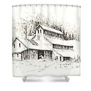 Gold Mine Cable Ghost Town Montana Shower Curtain