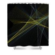 Gold Mine Computer Graphic Line Pattern Shower Curtain