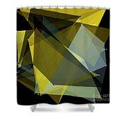Gold Mine Polygon Pattern Shower Curtain
