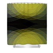 Gold Mine Semi Circle Background Horizontal Shower Curtain