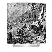 Gold Mining, 1853 Shower Curtain