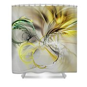 Gold Plumage Shower Curtain