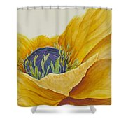 Gold Poppy Shower Curtain