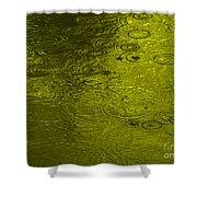 Gold Rain Droplets Shower Curtain