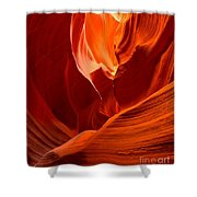 Gold Red And Orange Abstract Shower Curtain