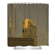 Gold Reflections Shower Curtain