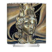 Gold Rhyton From Bulgaria Shower Curtain