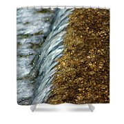 Gold Rush Abstract Shower Curtain