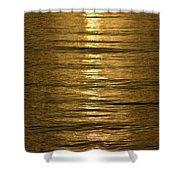 Gold Sea Shower Curtain