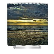 Gold Skies Shower Curtain