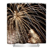 Gold Spangles Shower Curtain