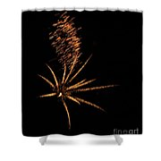 Gold Star Tail Shower Curtain