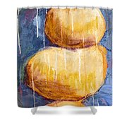 Gold Stones Shower Curtain
