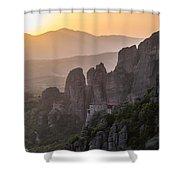 Gold Sunset Shower Curtain