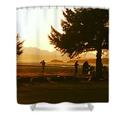 Gold Sunset Shower Curtain